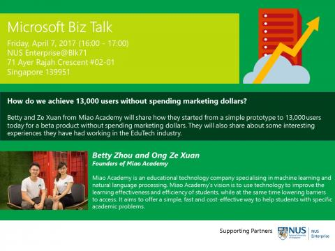 Microsoft Biz Talk: How Do We Achieve 13,000 Users Without Spending Marketing Dollars?