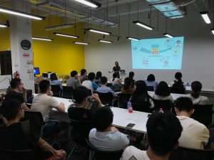 Miao is with students from China's Top universities