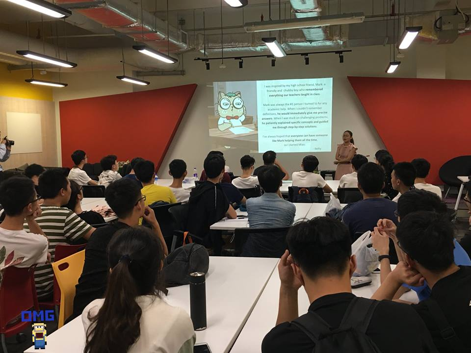 Miao is with students from Xidian University