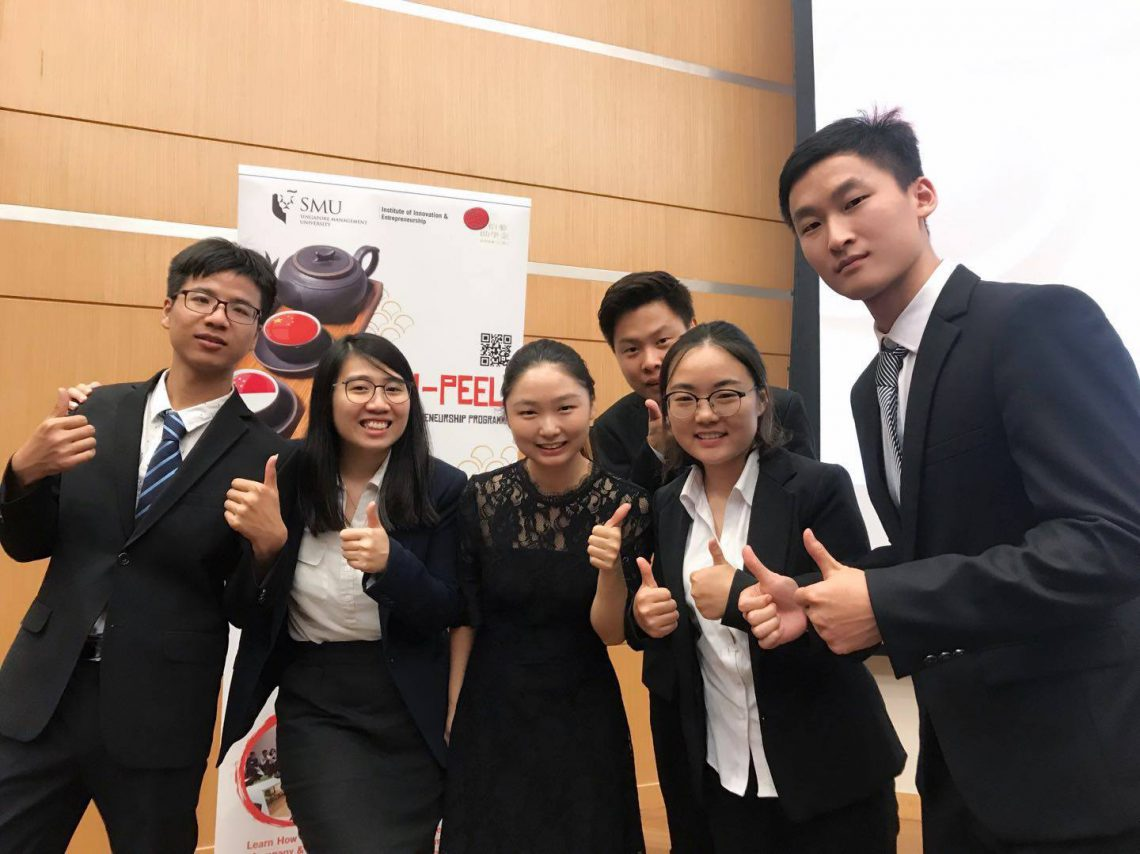 Miao is with students from SMU-PEELI Entrepreneurship Programme